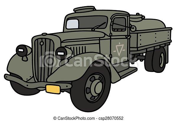 militar, caminhão velho, tanque - csp28070552