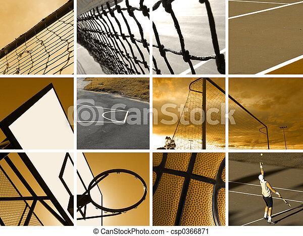 montagem, desporto - csp0366871