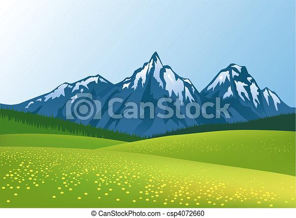 montanha, fundo - csp4072660