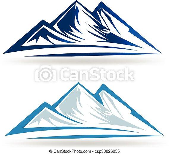 montanhas azuis, logotipo - csp30026055
