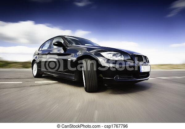 movimento, car, pretas - csp1767796