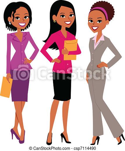 mulheres, grupo - csp7114490