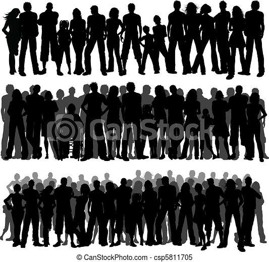 multidões, pessoas - csp5811705