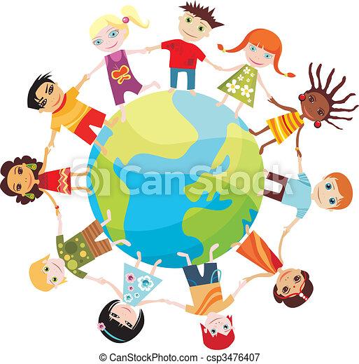 mundo, crianças - csp3476407