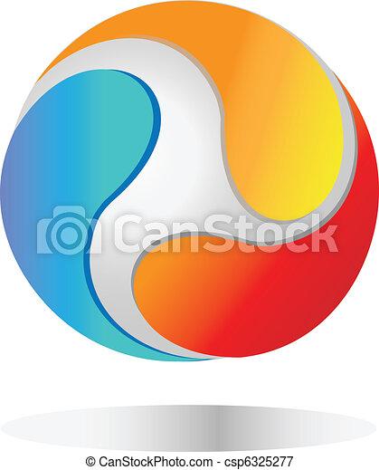 mundo, logotipo - csp6325277