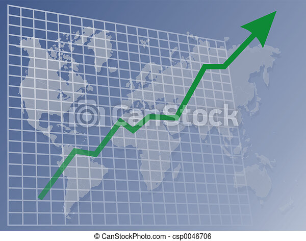 mundo, mapa, cima - csp0046706
