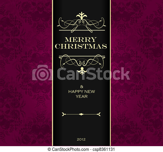 natal, convite, card. - csp8361131