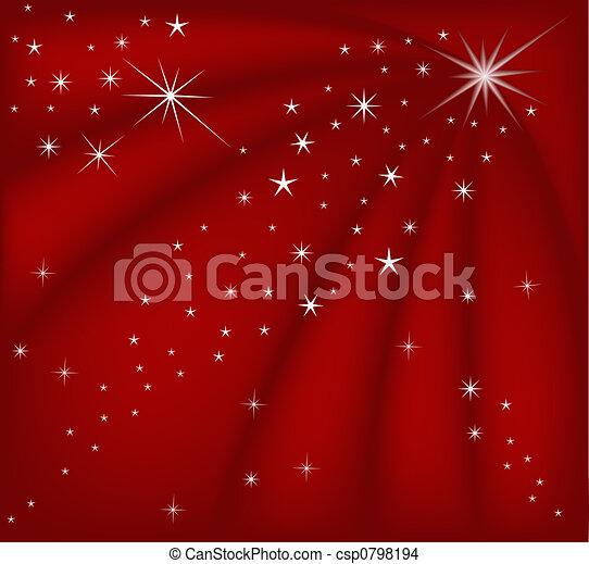 natal, vermelho, magia - csp0798194