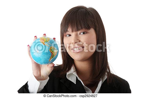 negócio mulher, globo - csp2924827