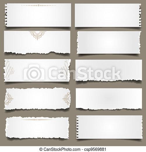 notas papel, dez - csp9569881