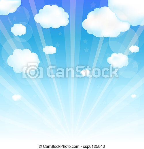 nuvem céu - csp6125840