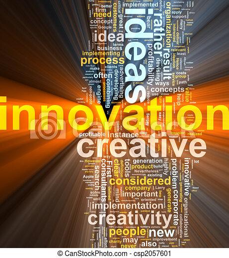 nuvem, inovação, palavra, glowing - csp2057601