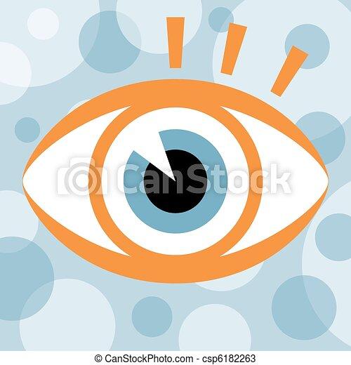olho, design., golpear - csp6182263