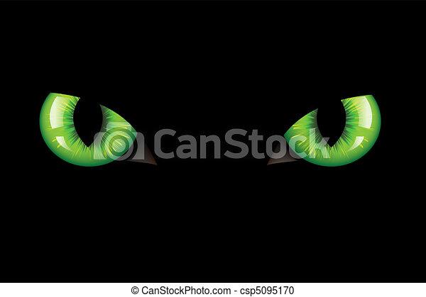 olhos, gatos - csp5095170