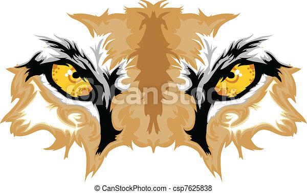 olhos, puma, mascote, gráfico - csp7625838