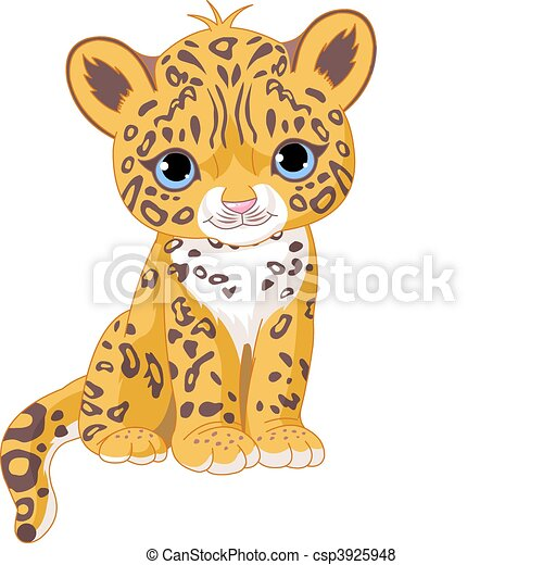 onça pintada, filhote, cute - csp3925948