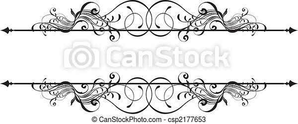 ornamental, bandeira, beleza - csp2177653