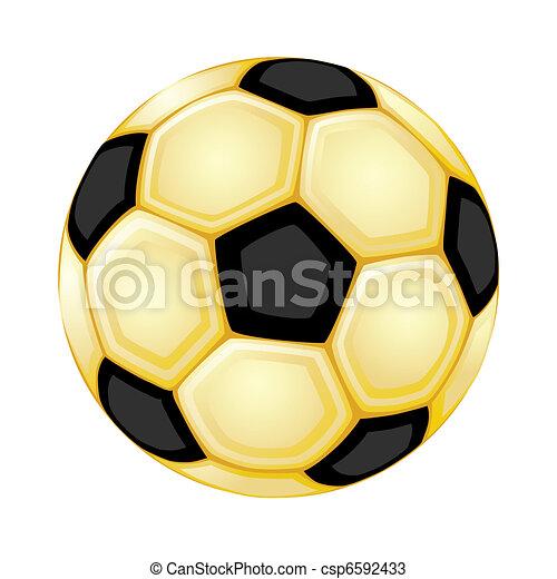 ouro, bola, futebol - csp6592433