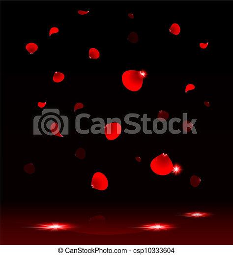 pétalas, voando, rosa - csp10333604