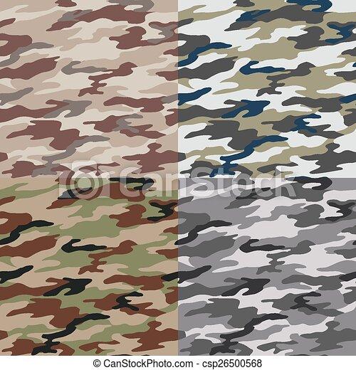 padrão, camuflagem, seamless - csp26500568