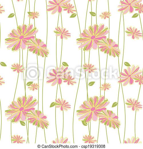 padrão, flor, coloridos, seamless, fundo - csp19319308