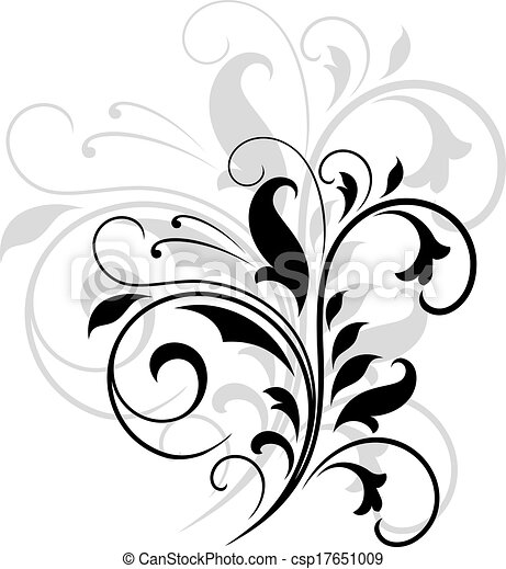 padrão floral, rodar - csp17651009