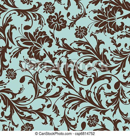 padrão floral, seamless - csp6814752