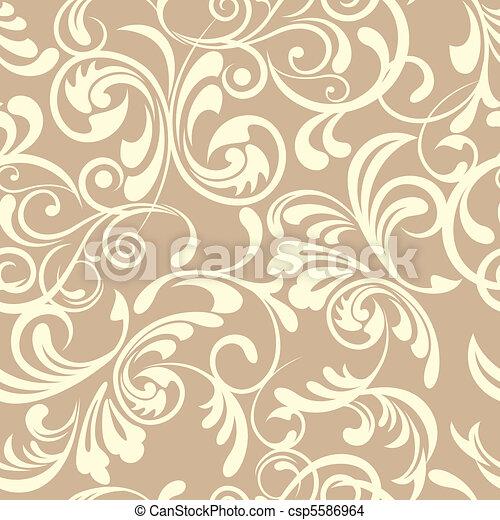 padrão floral, seamless - csp5586964