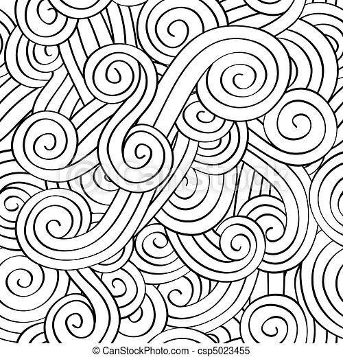 padrão, seamless, espiral - csp5023455