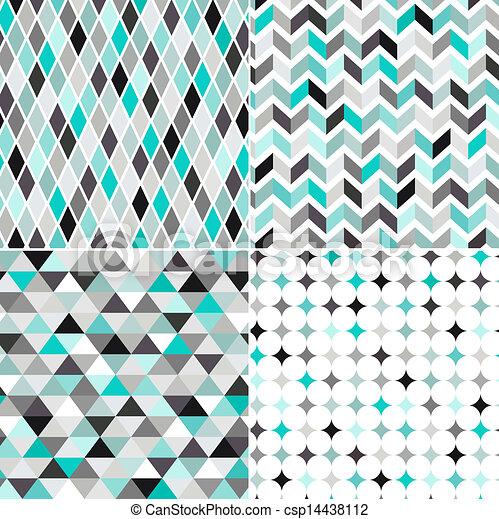 padrão, seamless, geomã©´ricas - csp14438112