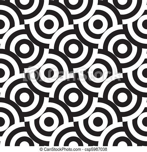 padrão, seamless, (vector) - csp5987038