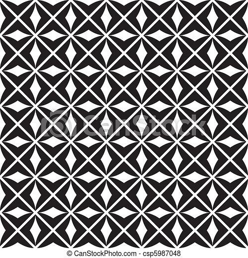padrão, seamless, (vector) - csp5987048