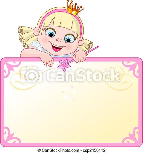 painél publicitário, convidar, princesa, ou - csp2450112