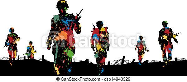 paintball, tropas - csp14940329