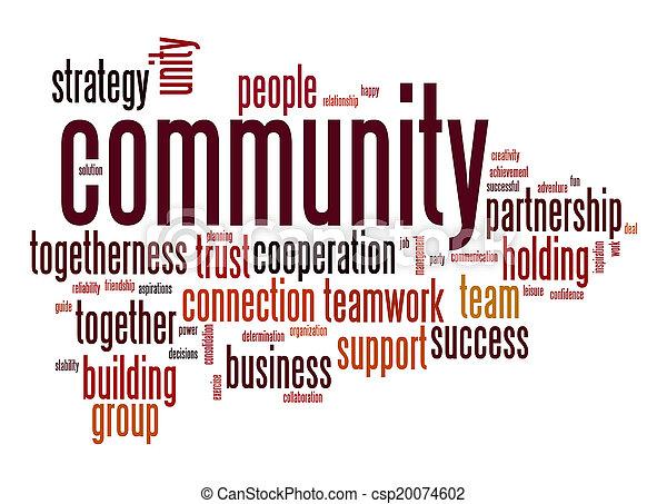 palavra, comunidade, nuvem - csp20074602