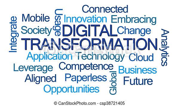 palavra, digital, transformação, nuvem - csp38721405