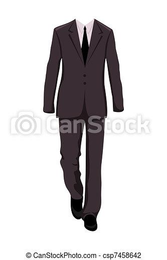 paleto, projete elementos, macho, negócio - csp7458642