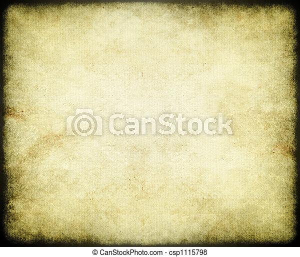 papel, antigas, ou, pergaminho - csp1115798