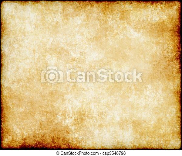 papel, antigas, ou, pergaminho - csp3548798