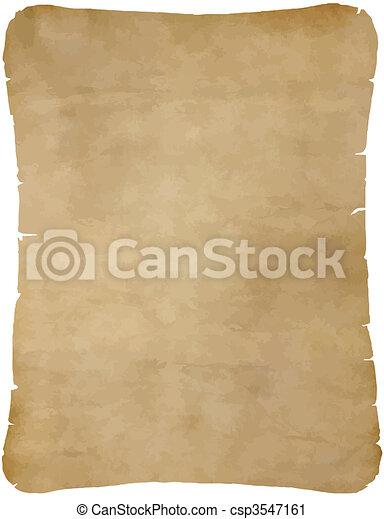 papel, antigas, pergaminho - csp3547161