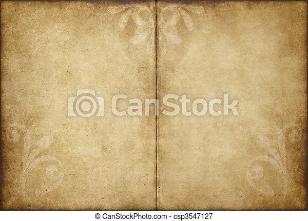 papel, antigas, pergaminho - csp3547127