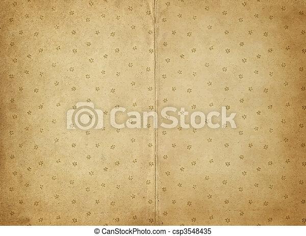 papel, antigas, pergaminho - csp3548435