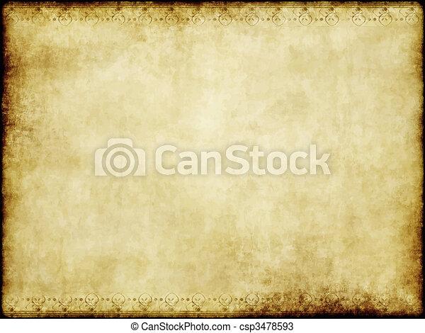 papel, antigas, pergaminho - csp3478593