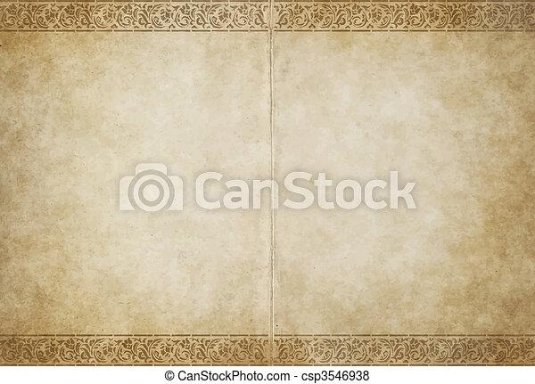 papel, antigas, pergaminho - csp3546938