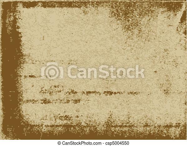 papel, antigas, textura - csp5004550