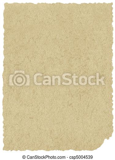 papel, antigas, textura - csp5004539