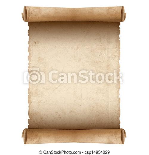 papel, antigas, vetorial, scroll - csp14954029