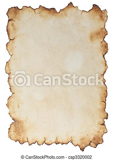 papel, envelhecido - csp3320002