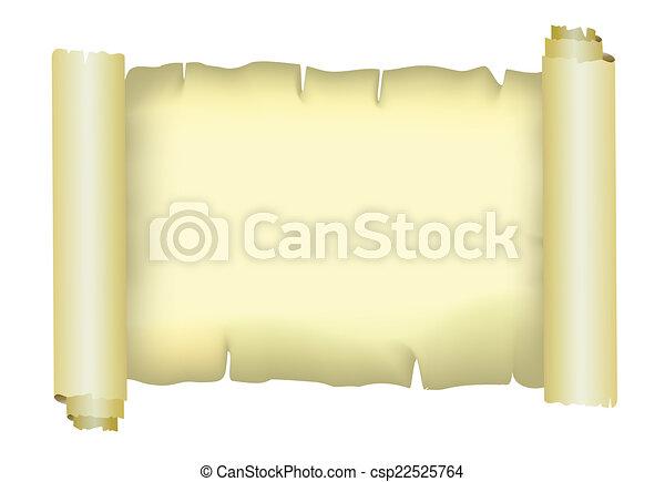 papel, pergaminho, vetorial, antigas - csp22525764