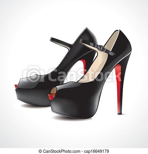 par, sandálias, pretas - csp16649179